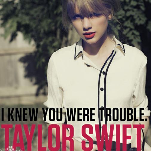 I Knew You Were Trouble(我知道你是大麻烦)钢琴谱
