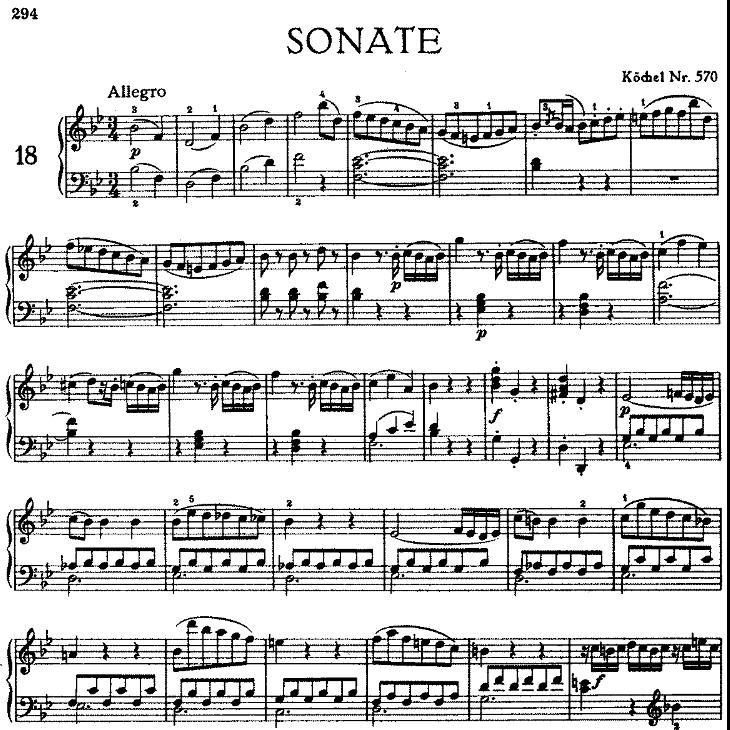 Sonata in bB Major No.17 K.570