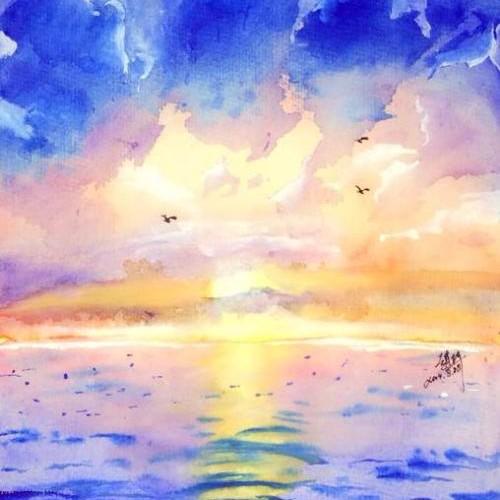 海上太阳的个人空间
