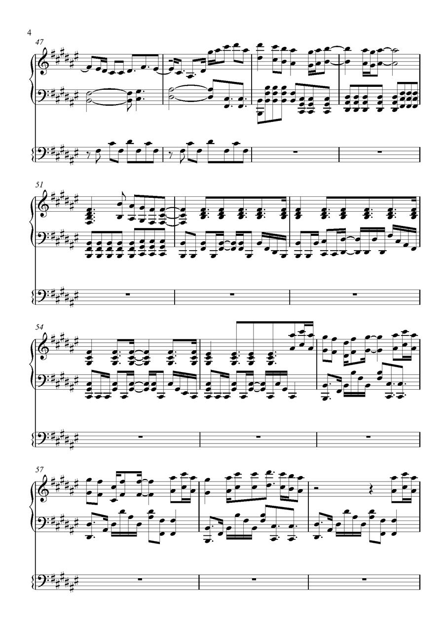 吉他譜 第4頁