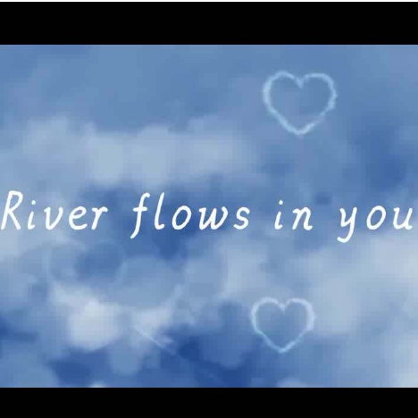 river flows in you-双手简谱