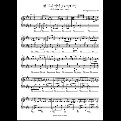 Campfire钢琴谱