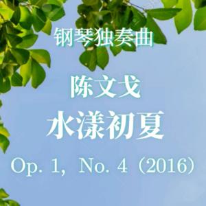 【官方正版】陈文戈《水漾初夏》作者原版授权PDF曲谱