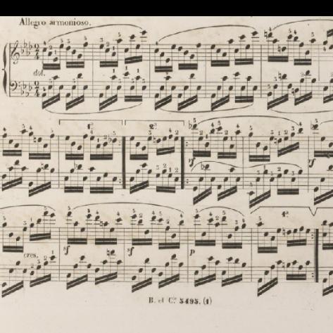 车尔尼降A大调练习曲 作品818第21首钢琴谱