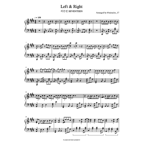 Left & Right钢琴谱