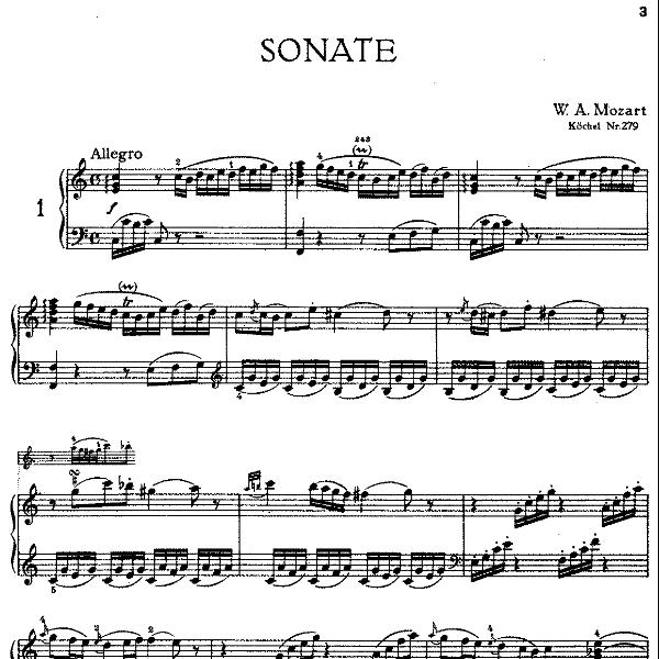 Sonata in C Major K.279钢琴谱