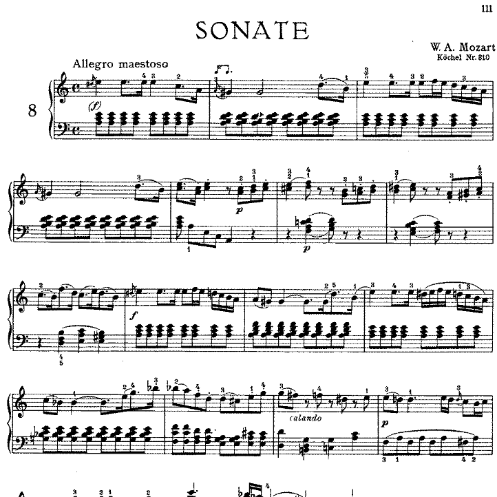 Sonata in a minor No.8 K.310钢琴谱