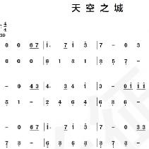 天空之城 C调 钢琴双手简谱  容易上手简易版钢琴谱