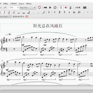 阳光总在风雨后钢琴简谱-数字双手-陈佳明