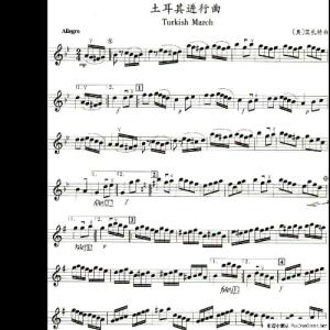 Thukish March钢琴谱