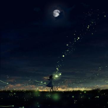夜、萤火虫和你-AniFace钢琴谱