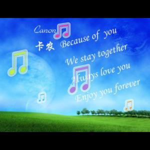卡农 (小调版)钢琴谱